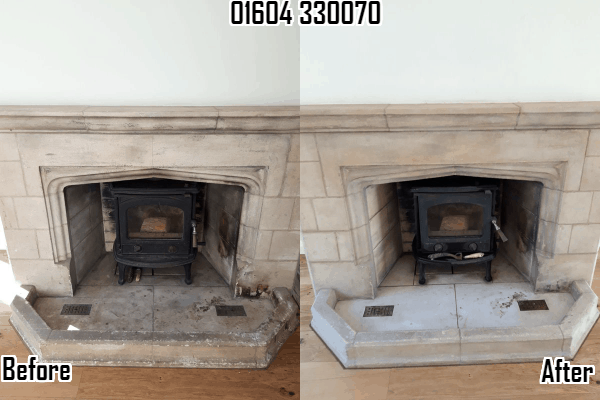 Stone Fireplace Restoring Cleaning Sealing Northampton 01604330070